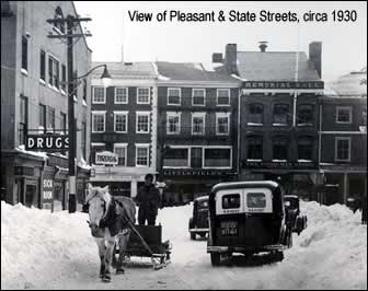 View of Pleasant & State Street (photo)
