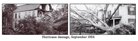 Hurricane damage, September 1954 (photos)