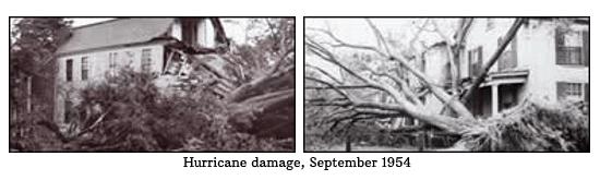 Hurricane damage, September 1954 (photos)